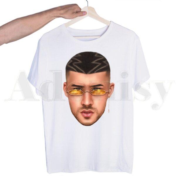 Bad Bunny Face Printed T shirt