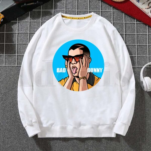 Bad Bunny Face Hoodie