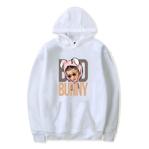Bad Bunny Face Printed Hoodie