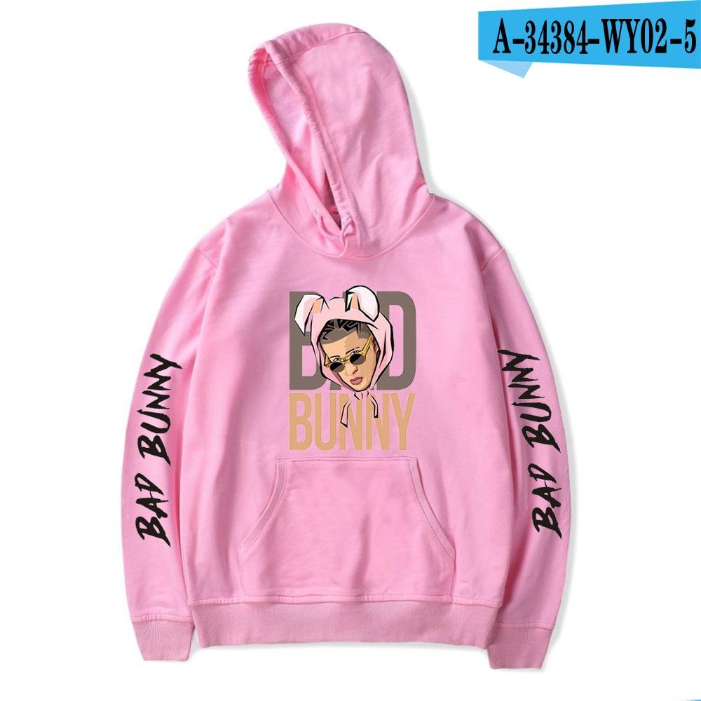 Fashion Design Bad Bunny Hoodies Sweatshirts Men/Women Casual Hip Hop Hoodie 2020 Popular Harajuku Pullover Hooded Clothing